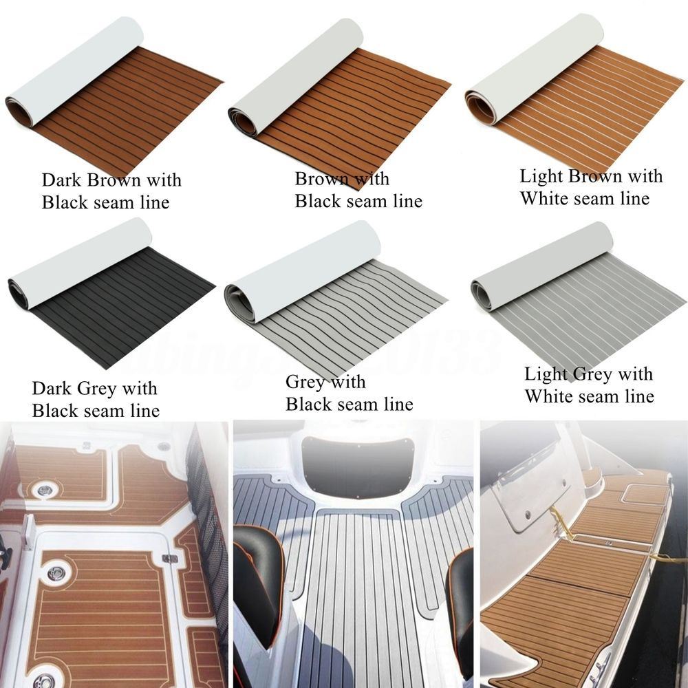 1 X Teak Decking 240cm X 90cm X 5 5mm Non Skid Eva Foam Faux Teak Sheets Soft And Durable Material Boat Flooring Ideas Yacht Flooring Boat Interior Design