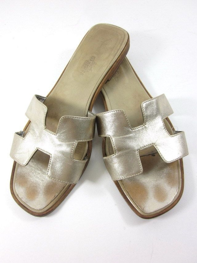 find great sale online Hermès Metallic Ankle Strap Flats cheap sale 2014 newest best cheap price outlet wholesale price znDYD
