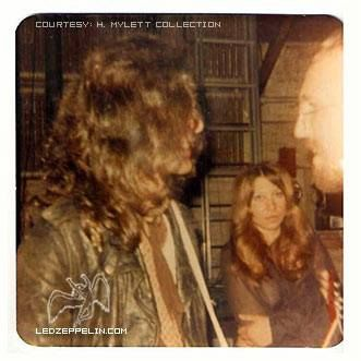 Jimmy Page 1969 backstage, photo credit: Jadwiga Petrykiewicz
