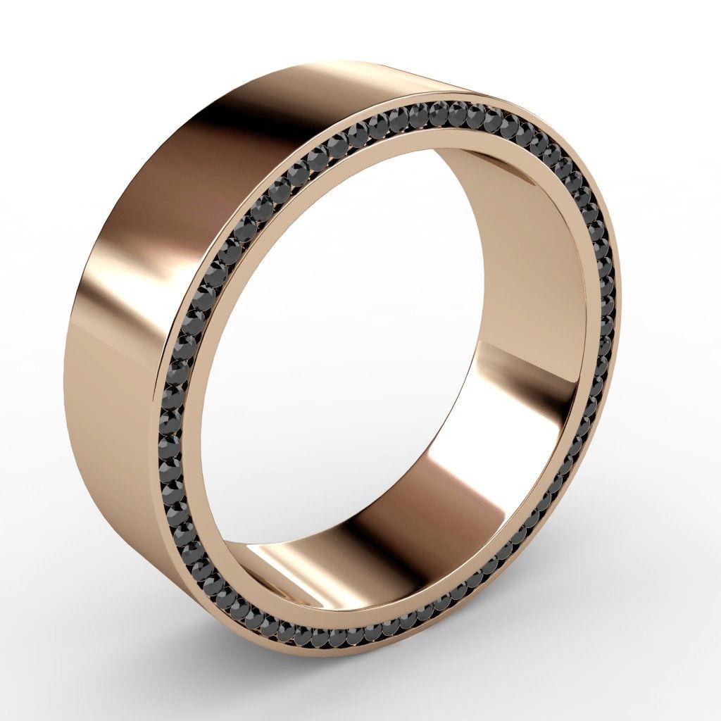 Men's+dual+sided+eternity+diamond+profile+wedding+band+
