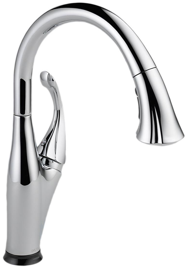 Delta Faucet 9192t Cz Dst Addison Single Handle Pull Down Kitchen Faucet With Touch2o R Technology Touch Kitchen Faucet Kitchen Faucet Chrome Kitchen Faucet