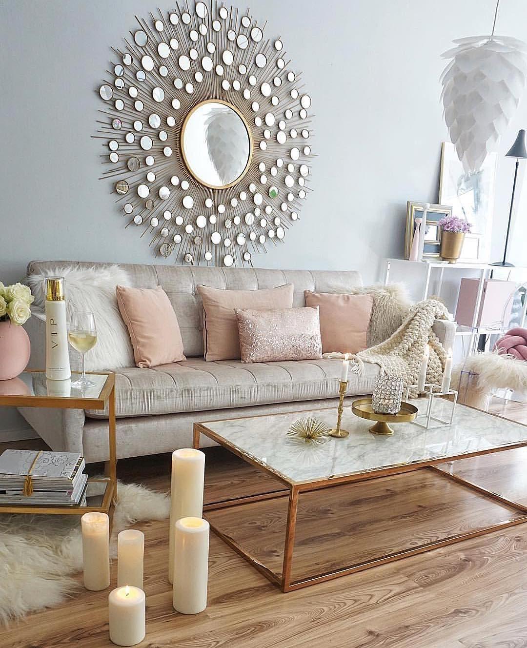 """Wanddeko wohnzimmer rosegold Easyinterieur on Instagram: """"Werbung"""
