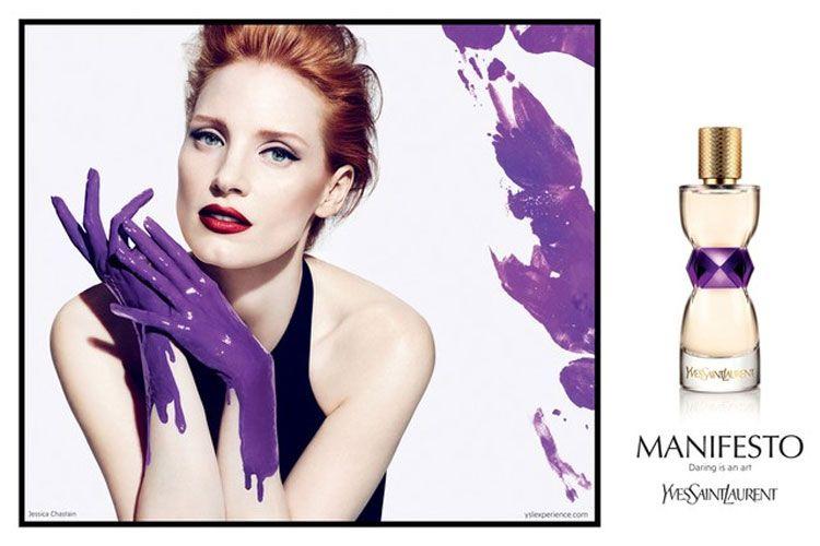 Campaign for New @YvesSaintLaurent #Fragrance Spotlights Jessica Chastain