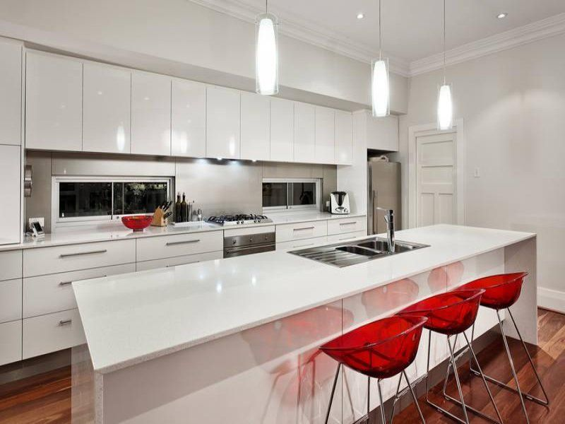 Photo Of A Modern Island Kitchen Using Hardwood From The Kitchen Image  Galleries   Kitchen Photo Browse Hundreds Of Images Of Modern Kitchens U0026  Photos Of ...