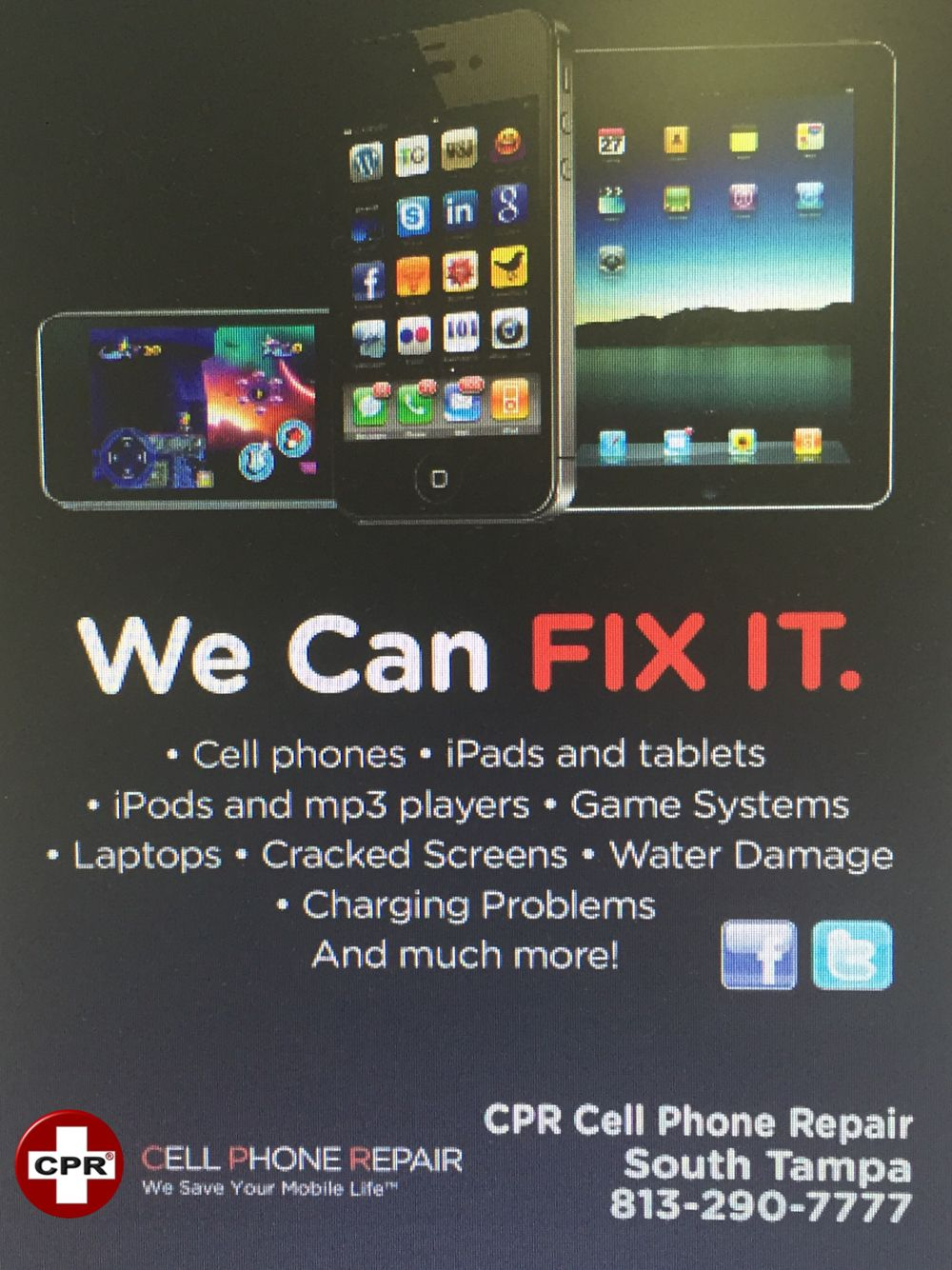 We can fix it Cracked screen, Save yourself, Canning