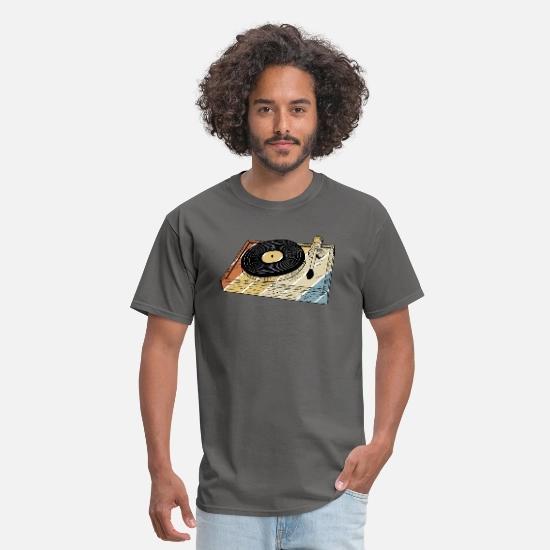 Vinyl Records Music Vintage Gift Idea Men S T Shirt Spreadshirt Mens Tshirts Vintage Gifts Ideas Vinyl Records Music