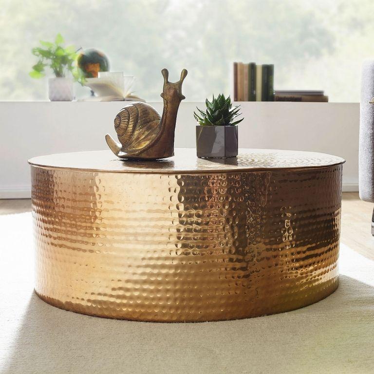 Rahi Couchtisch Rund Farbe Gelb Gold In 2020 Beistelltisch Gold Couchtisch Antik Beistelltisch