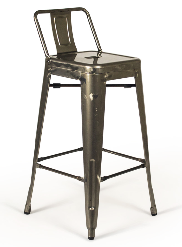 Peachy Tolix Low Back Gunmetal Counter Stool Metal Industrial Pabps2019 Chair Design Images Pabps2019Com