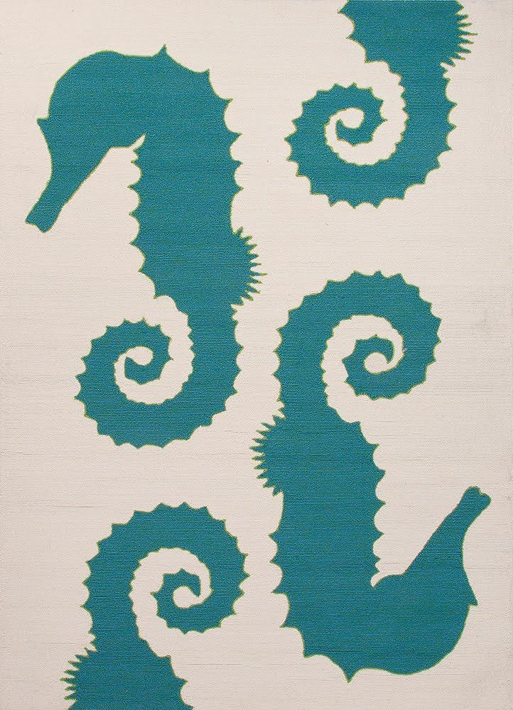 Jaipur GD33 Grant I-O Seahorse - Indoor-Outdoor Area Rug