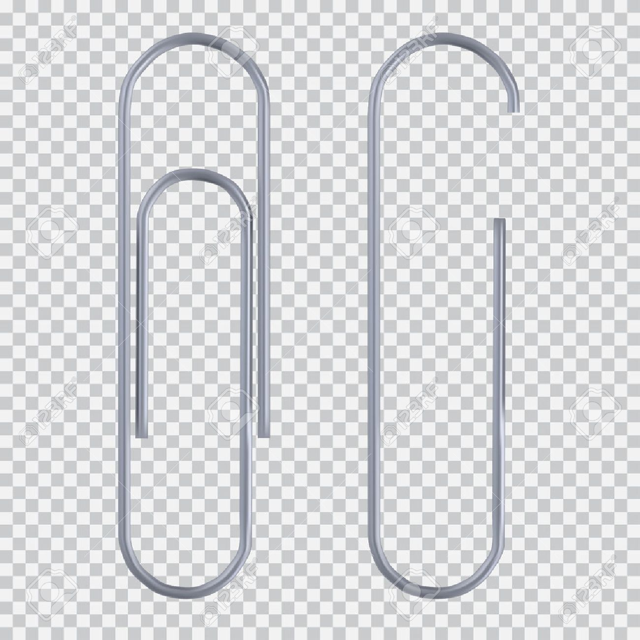Realistic Paper Clip Set Isolated On White Black Transparent For Paper Clip Transparent Background21529