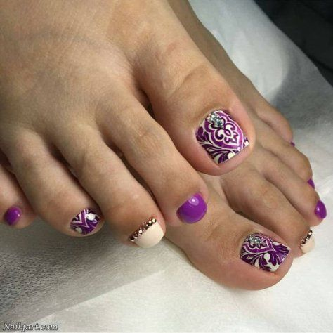 top 110 pedicure nail art design that are easy  toe nail