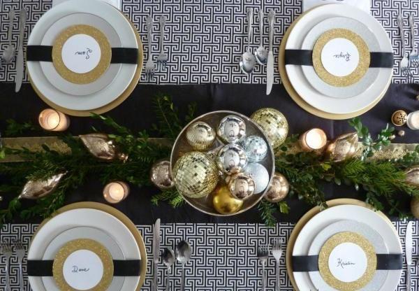 Déco Table De Noël En Or Et En Argent 22 Idées Magnifiques