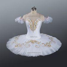 Professional Ballet Tutu clássica de desempenho em matéria de concorrência white/gold De Dança