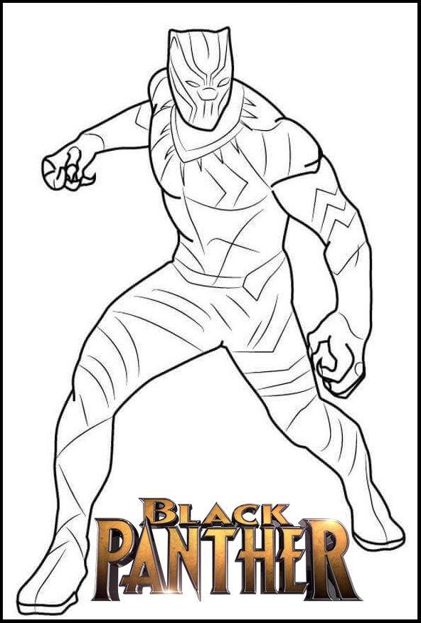 marvel black panther coloring page  avengers bilder
