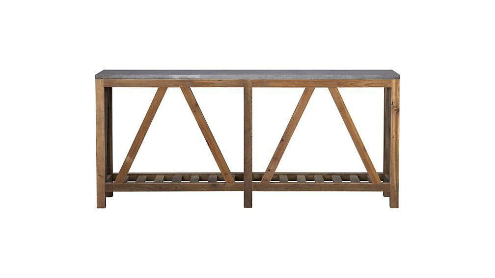 Bluestone Console Table Crate And Barrel Console Table Coffee