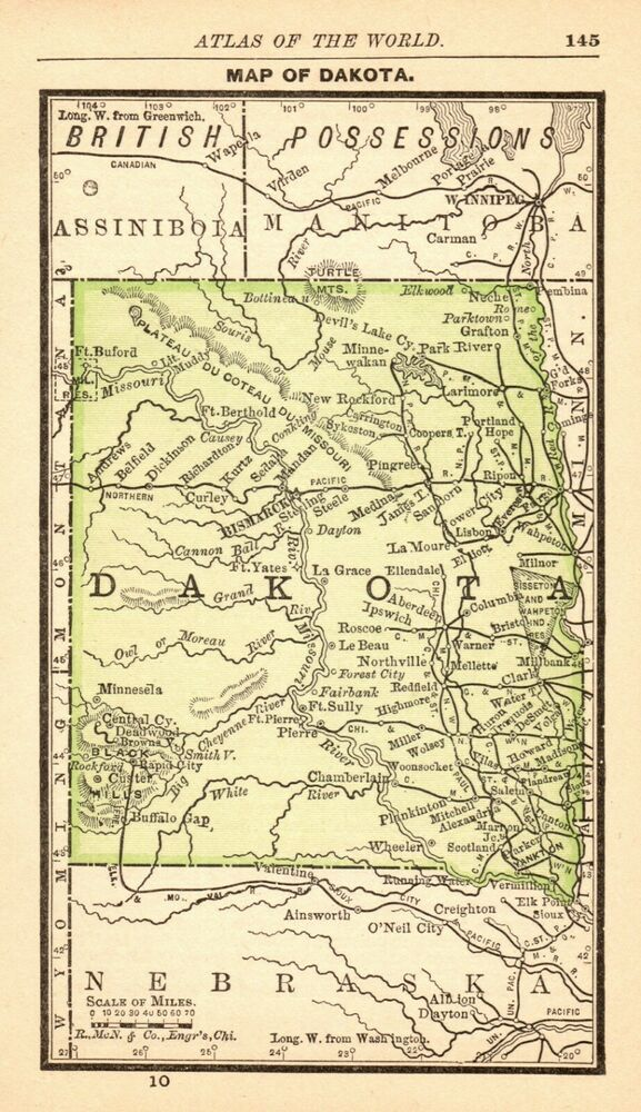 1888 Antique Dakota Map MINIATURE Vintage Map of North ... on illinois us map, central time zone us map, kentucky us map, guatemala us map, maryland us map, middle west us map, great lakes us map, idaho us map, egypt us map, minneapolis us map, adirondack mountains us map, sioux city iowa us map, wyoming us map, washington d.c. us map, minnesota us map, st. louis us map, north america us map, netherlands us map, montana us map, virginia us map,