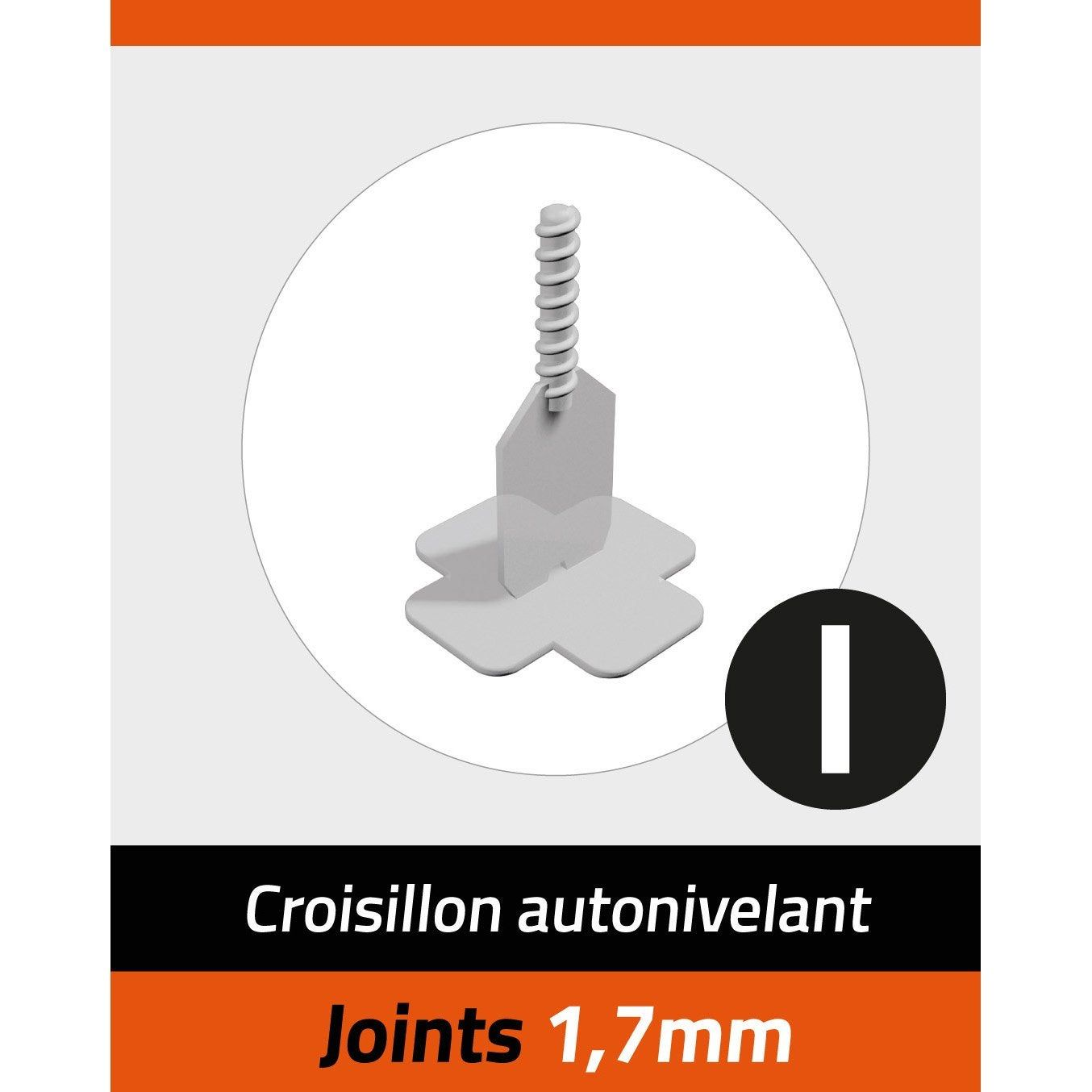 Kit De 100 Croisillons Pavilift En I 1 7 Mm Croisillon Et Kit