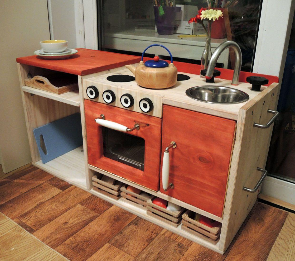 Ikea Kitchen Diy: Ikea Rast DIY Play Kitchen Hack