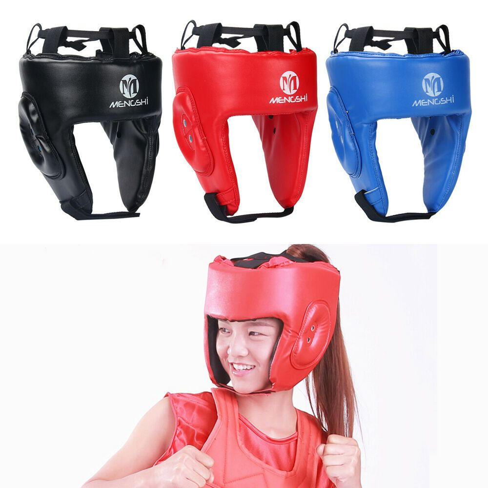 MMA Boxing Head Guard Leather Protective Headgear Lightweight For Kids//Adult
