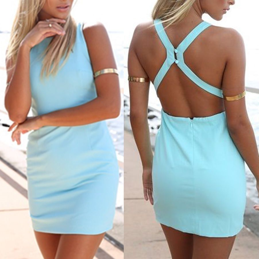 Click to Buy << Preself Women Summer Dress Sexy Backless Bodycon ...