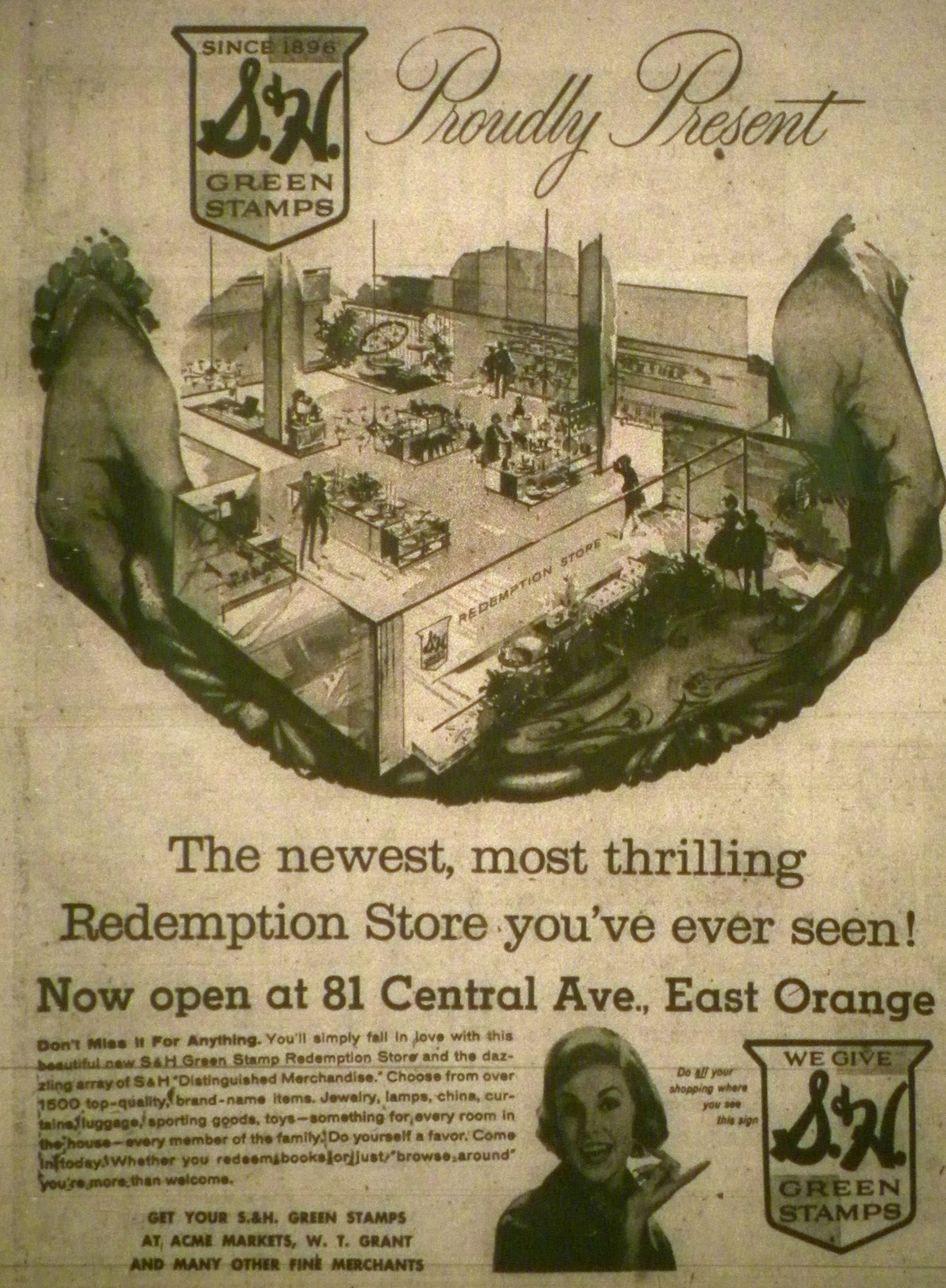 S H Greenstamp Redemption Center In East Orange East Orange Orange Rare Photos