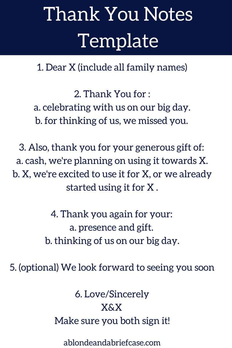 how to write your wedding thank you notes | thank you notes