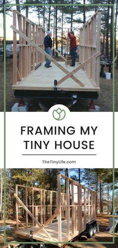 Framing My Tiny House - How To Frame A Tiny House The Right Way #tinyhousebathroom