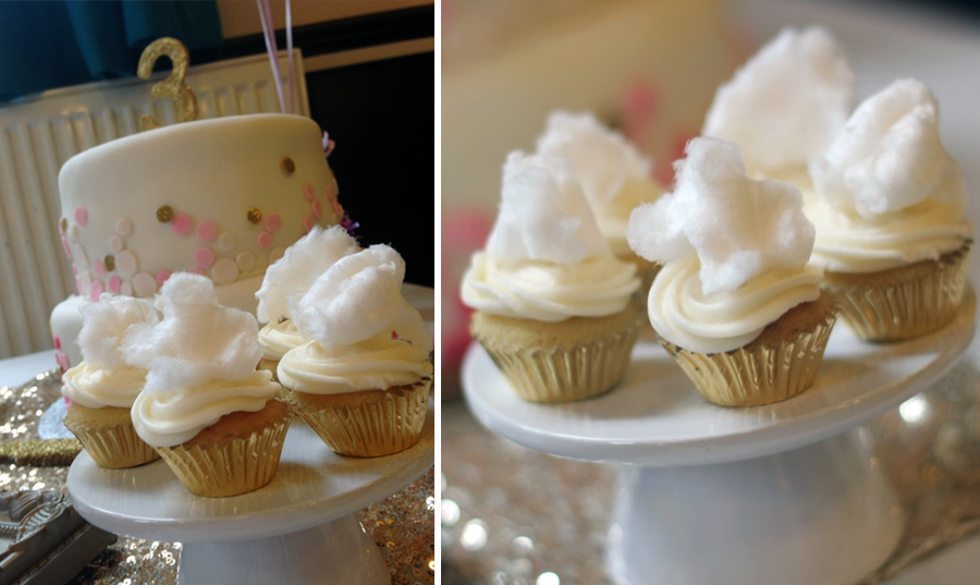 Fairy Floss Cupcakes - Pink, Gold and Glittery 3rd ...