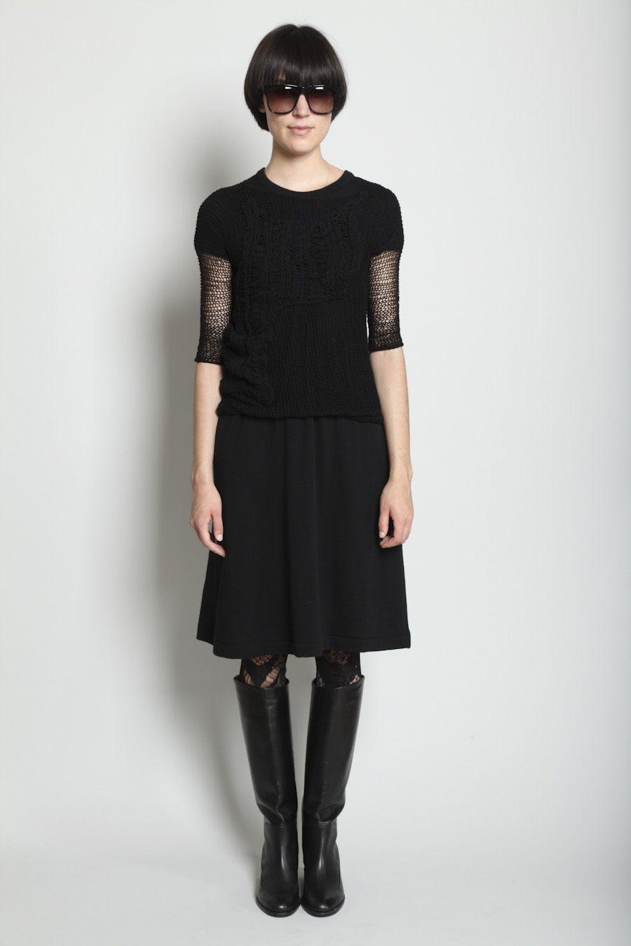 Totokaelo - Yohji Yamamoto Black Attach Knit