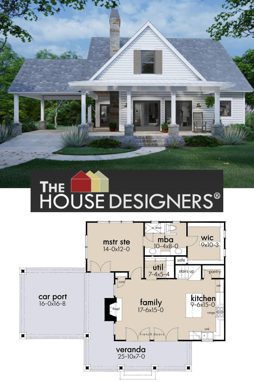 Adorable Farm House Style House Plan 8662 San Gabriel Cabin In 2020 Cabin House Plans Country House Plans Sims 4 House Building