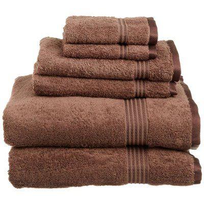 Superior Premium 900 GSM 100/% Cotton Luxury Bathroom 6-Piece Towel Set Brown