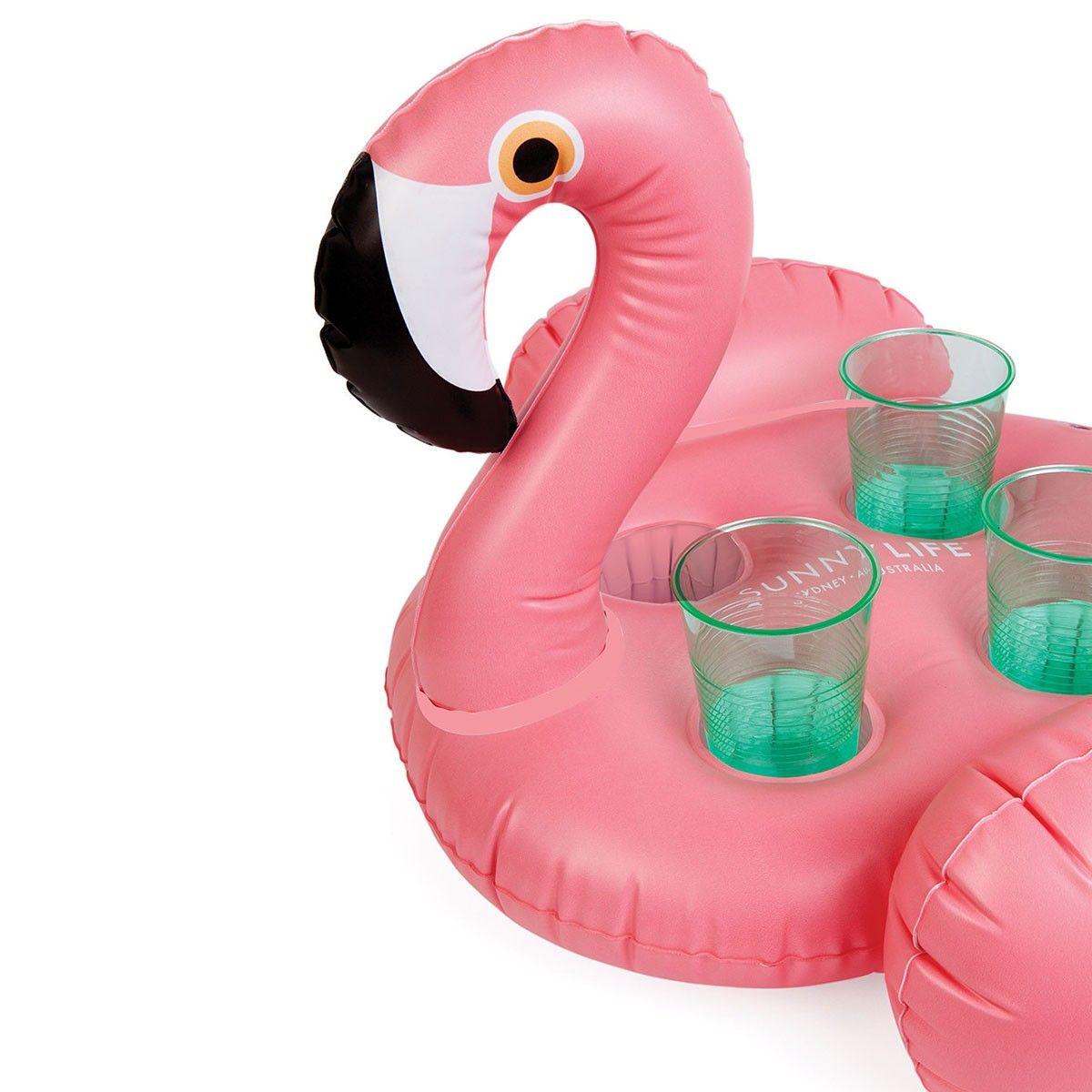 Porte verres gonflable flamingo vos boissons estivales pr f r es sont d sormais flottantes - Accessoire gonflable pour piscine ...