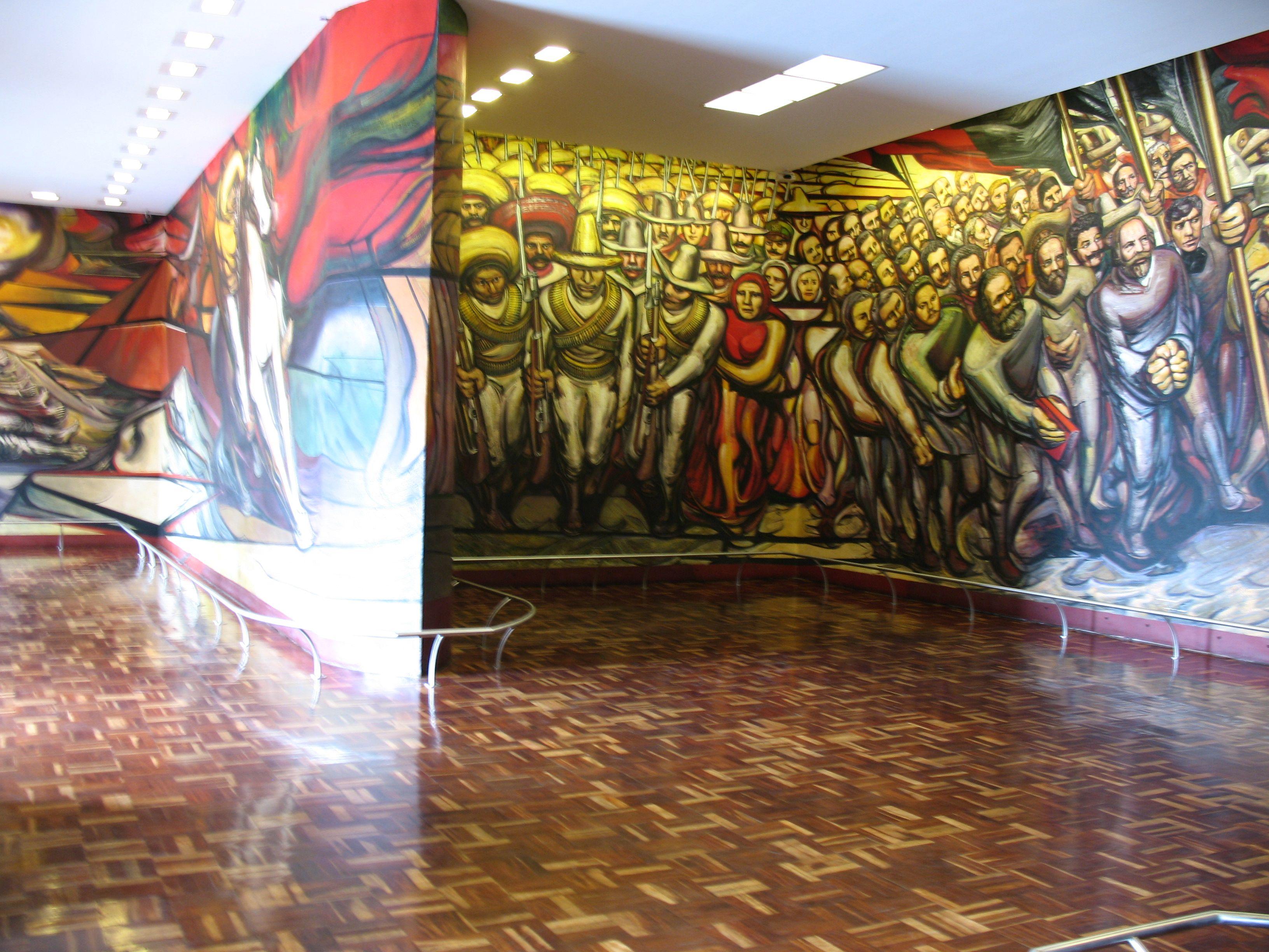 Siqueiros painted de porfirismo a la revolucion in a for El mural de siqueiros
