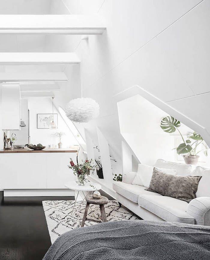 DIY : petit appartement blanc  avec une déco simple à l'esprit hygge !
