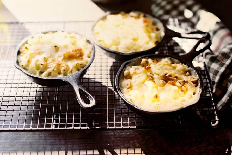 Kijk wat een lekker recept ik heb gevonden op Allerhande! Aardappel-bloemkoolgratin met hazelnoot
