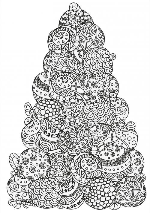 advanced christmas coloring 3 adult coloring pages christmas coloring pages coloring pages. Black Bedroom Furniture Sets. Home Design Ideas