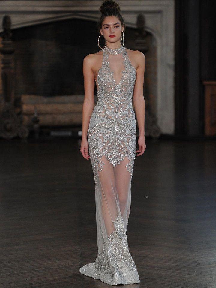 Berta silver metallic wedding gown | itakeyou.co.uk #wedding #weddingfashion #bridal #weddingdress #weddinggown #bridalgown #weddingdresses #weddinggowns #berta #bridalinspiration #weddinginspiration #engaged