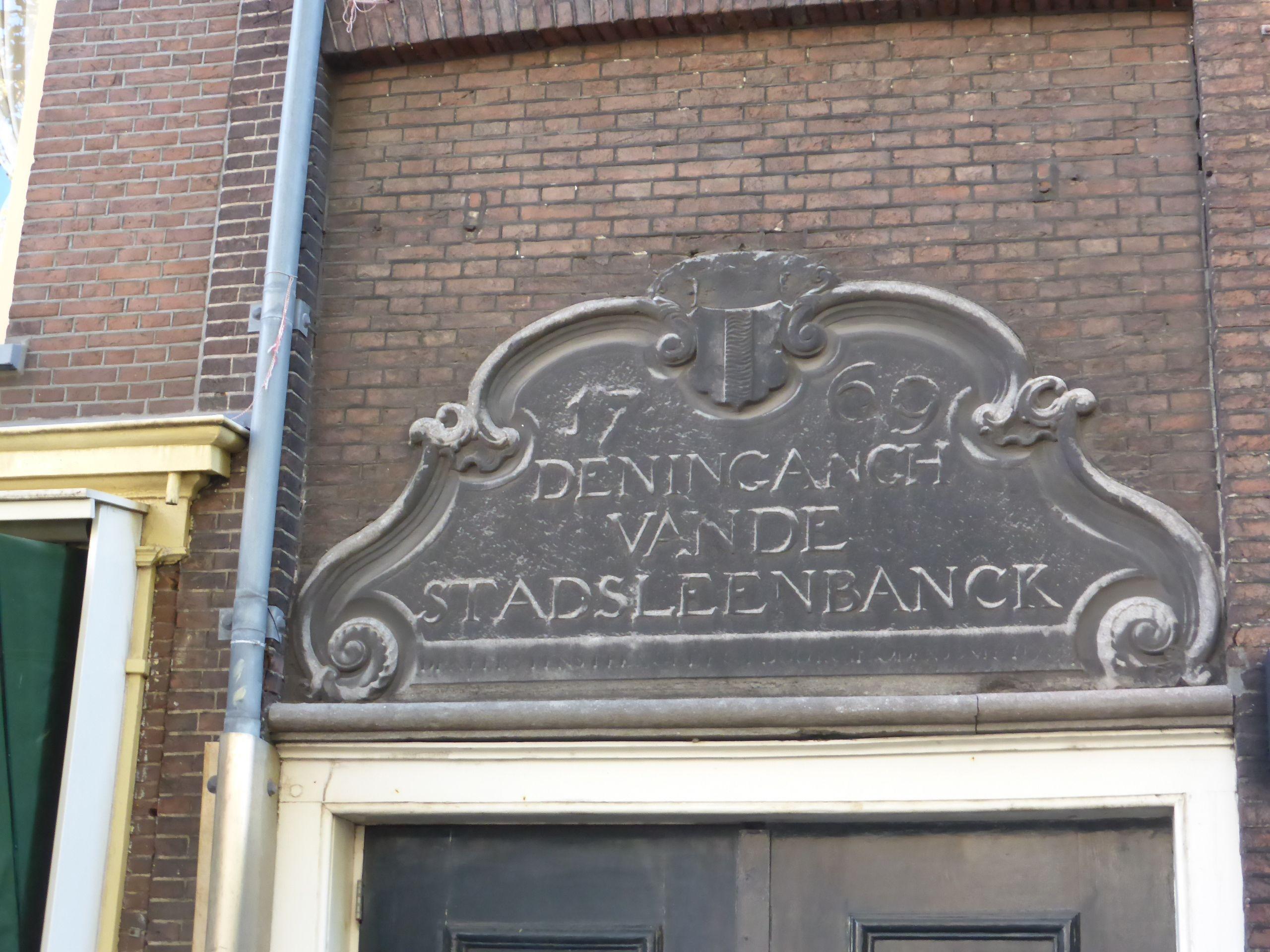 Delft, oude ingang Stadsleenbanck