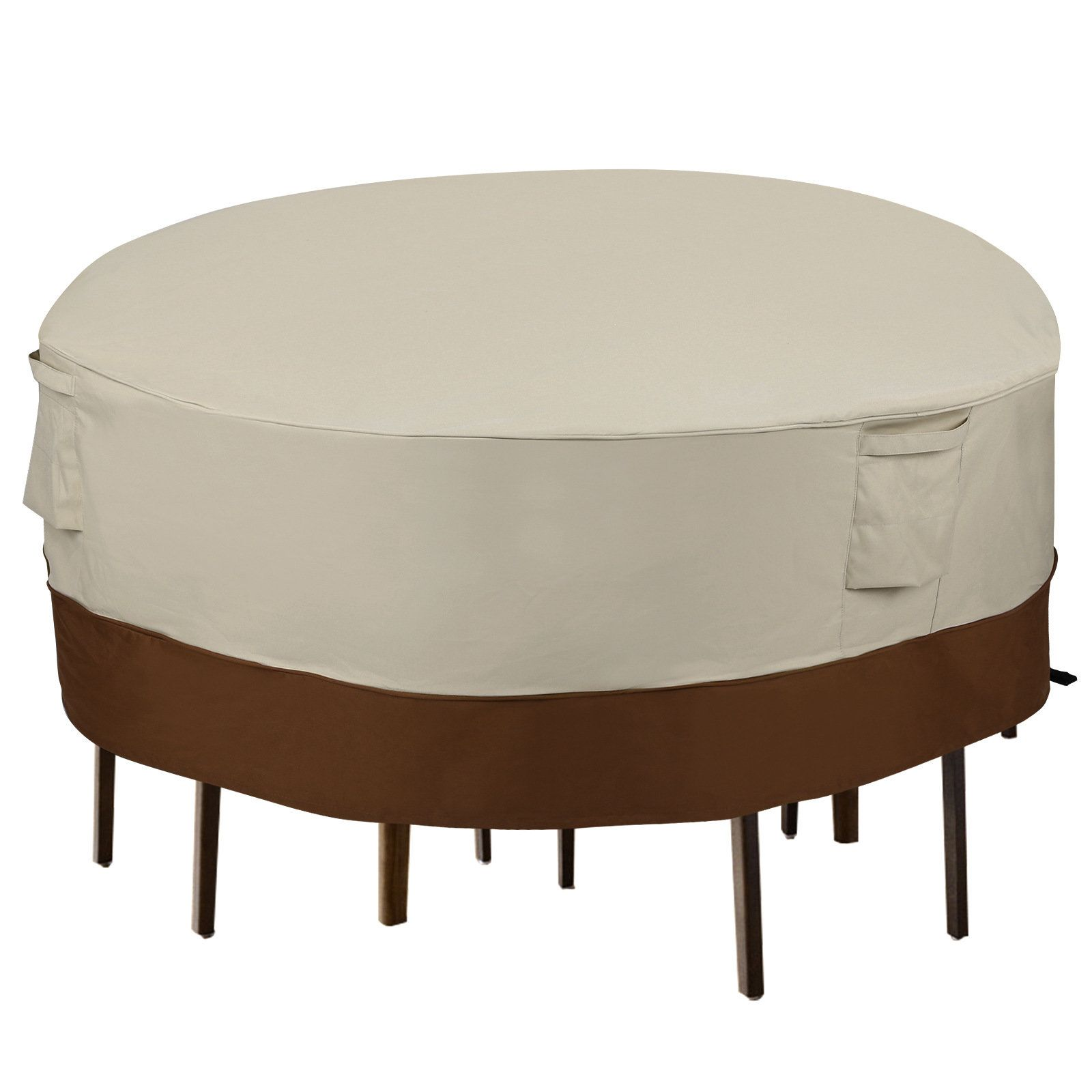 Elegant Patio Table And Chair Dining Set Cover Outdoor Tables