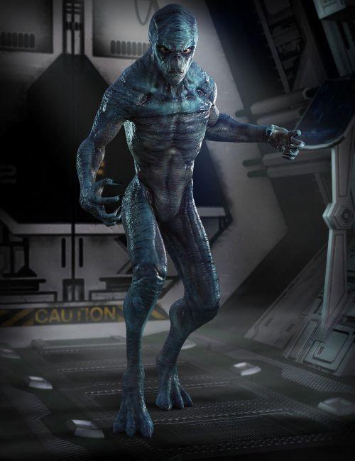 Invasion Textures For Alien-X  3D Models For Poser And Daz Studio  Humanoide Y Carpeta-8127