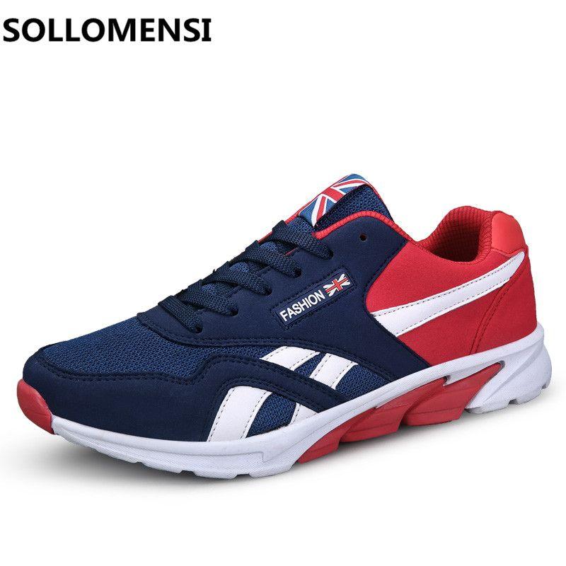 Nouvelle Arrivée Hommes Chaussures de Course Printemps Sports de Plein Air  Formateurs Baskets Athlétiques Respirant Maille