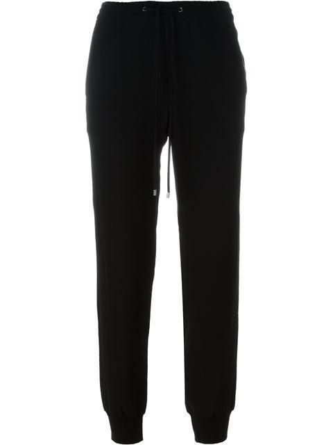 VINCE Leather Trim Track Pants. #vince #cloth #pants