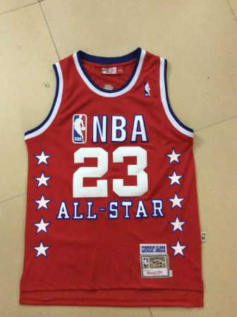 Michael Jordan 1989 Year all star game jersey red