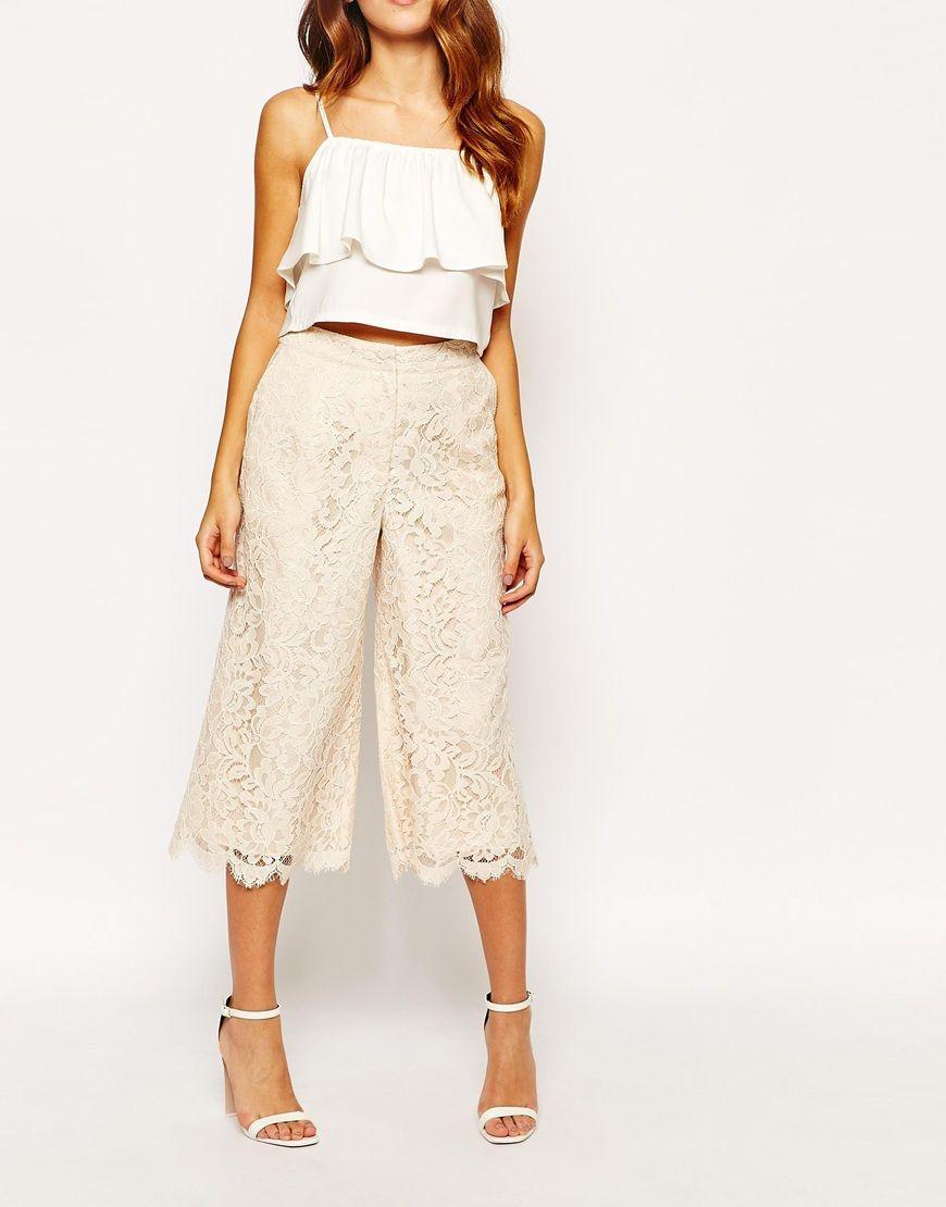 Image 4 of Warehouse Premium Lace Culottes | Fashion Laboratory ...