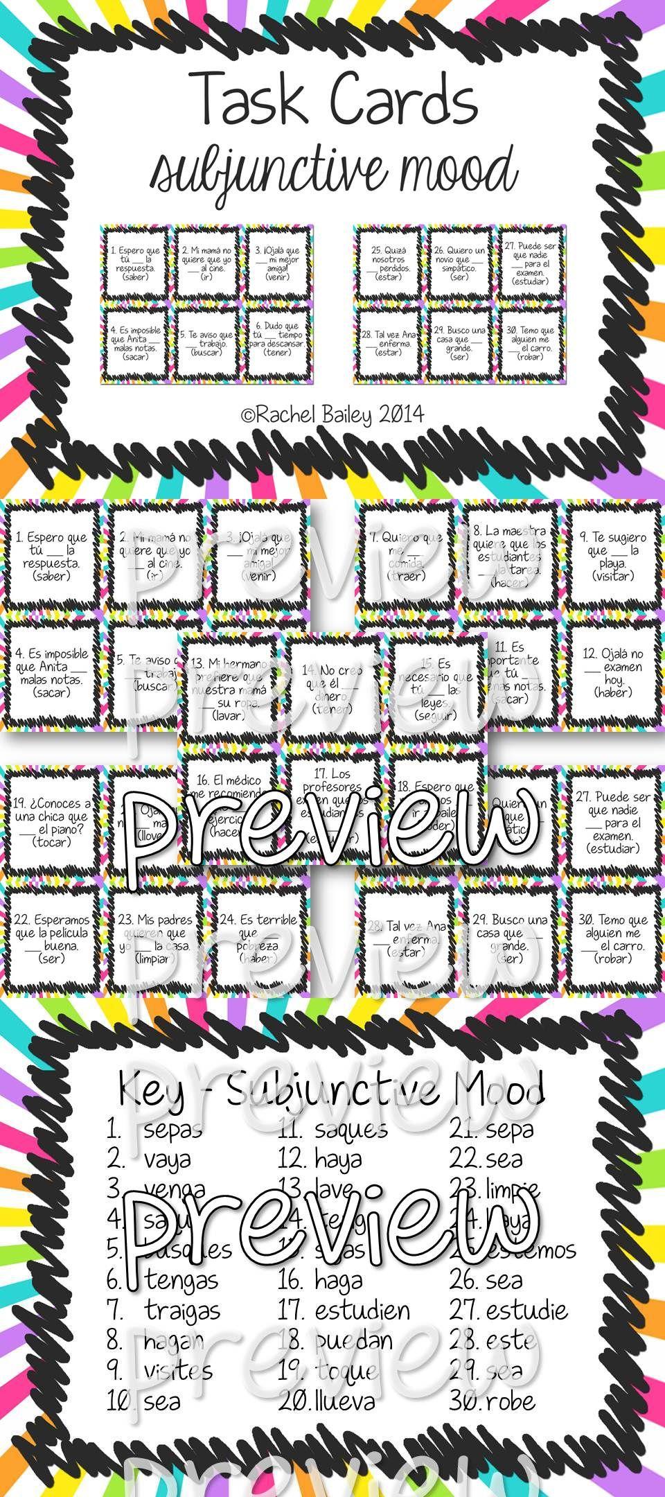 Pin By Senorita Creativa On Tpt Previews Task Cards Teaching Spanish Learning Spanish [ 2160 x 960 Pixel ]