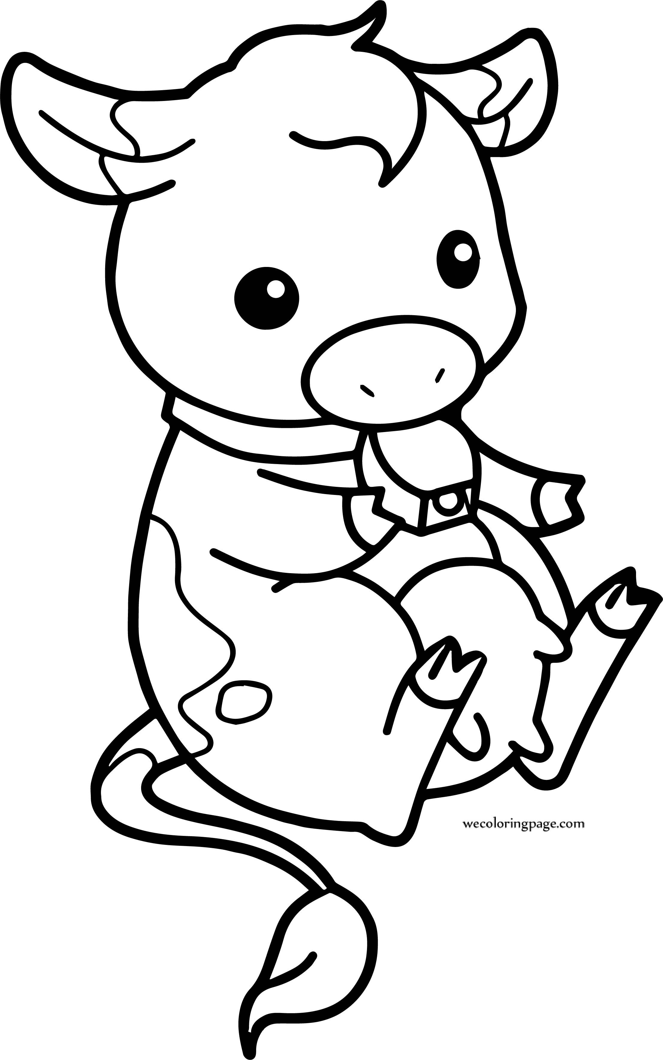 Pin By Wecoloringpage Coloring Pages On Wecoloringpage Cow Coloring Pages Coloring Pages Baby Cows