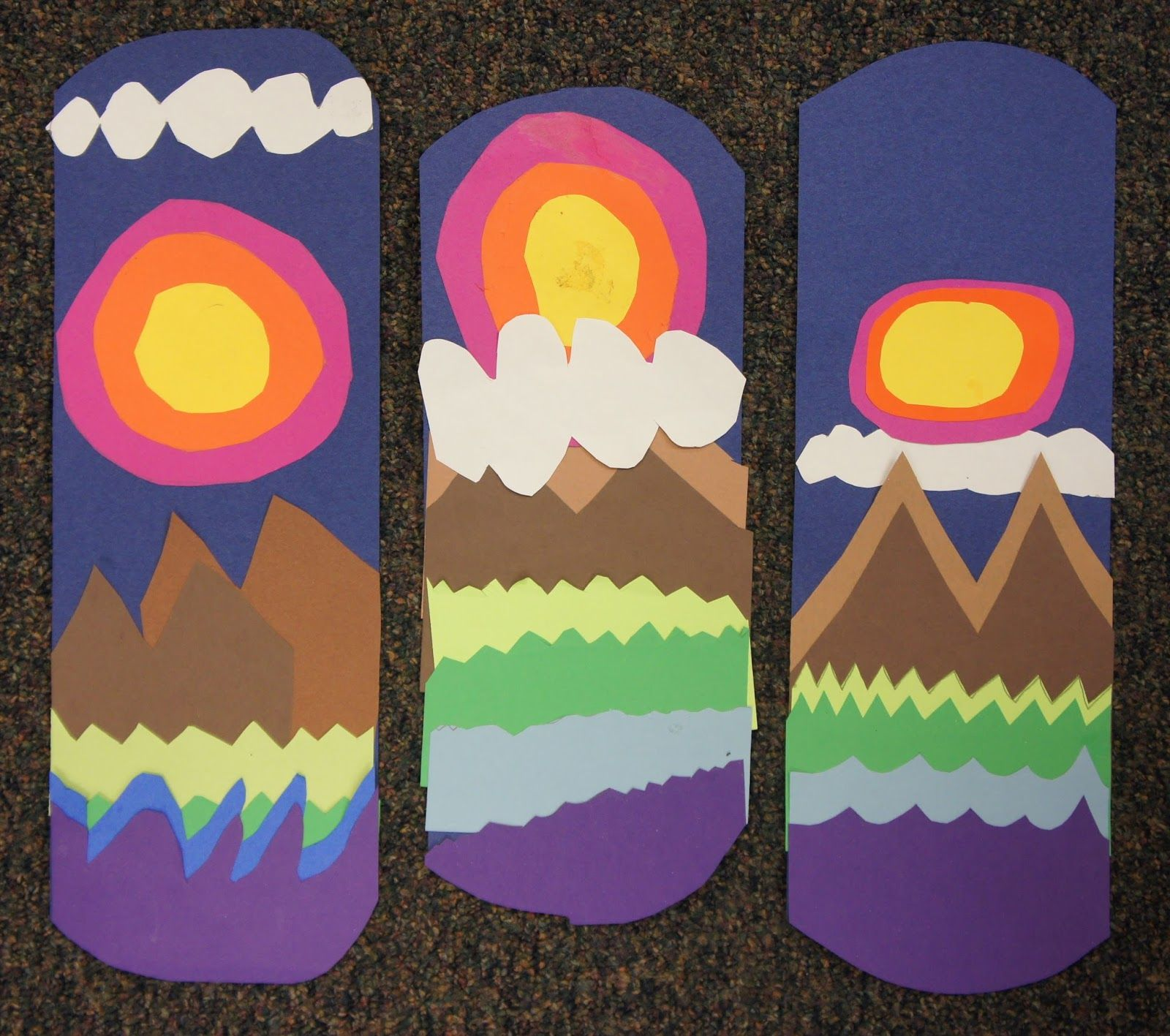 This Week The 2nd Graders Are Working With Collage And Landscape The Lesson Is Inspired By A