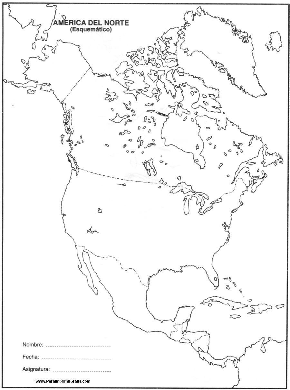 Resultado de imagen para mapa politico de america del norte para ...