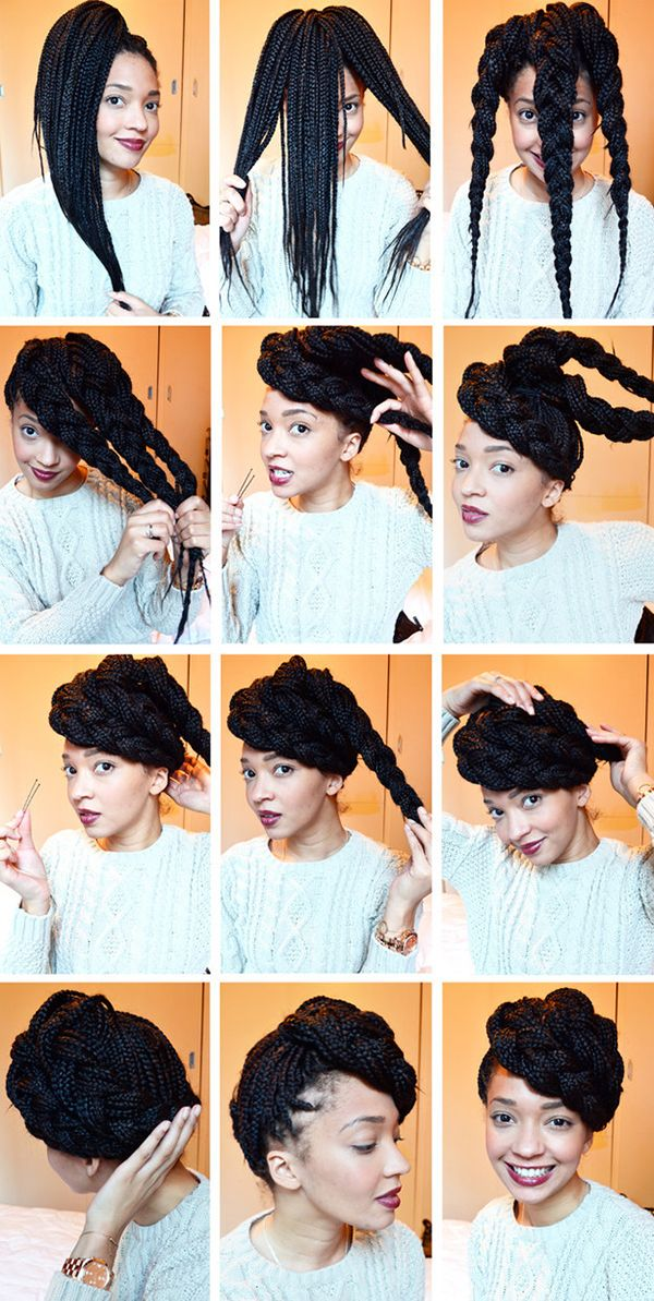 20 Easy No Heat Summer Hairstyles For Girls With Natural Black Hair Gurl Com Natural Hair Styles Box Braids Styling Hair Styles