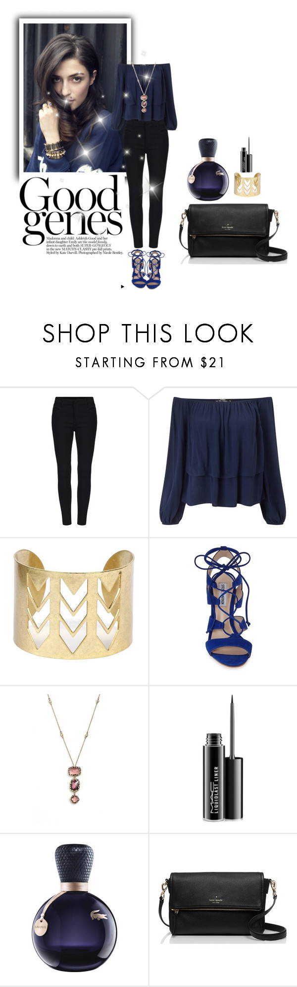 """""""silent beauty"""" by shailja787 ❤ liked on Polyvore featuring Miss Selfridge, Steve Madden, Judith Jack, MAC Cosmetics, Lacoste, Kate Spade, women's clothing, women's fashion, women and female"""